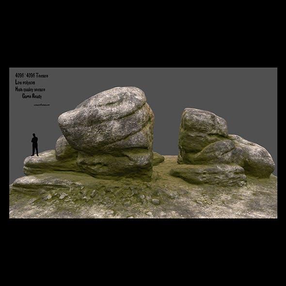 mossy rocks 2 - 3DOcean Item for Sale