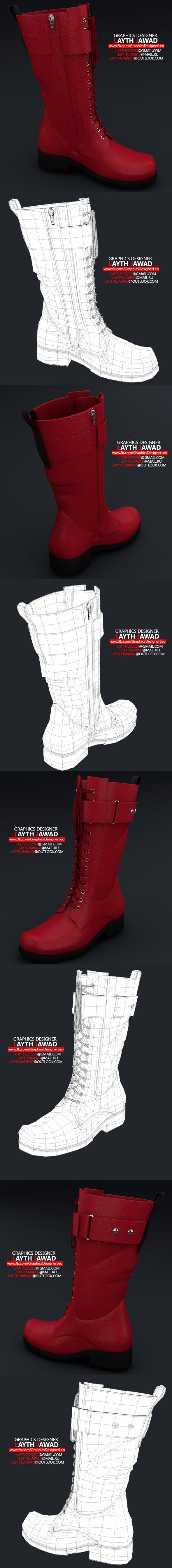 Long Women Shoes Boot 3d models - 3DOcean Item for Sale