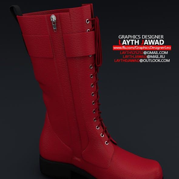 Long Women Shoes Boot 3d models