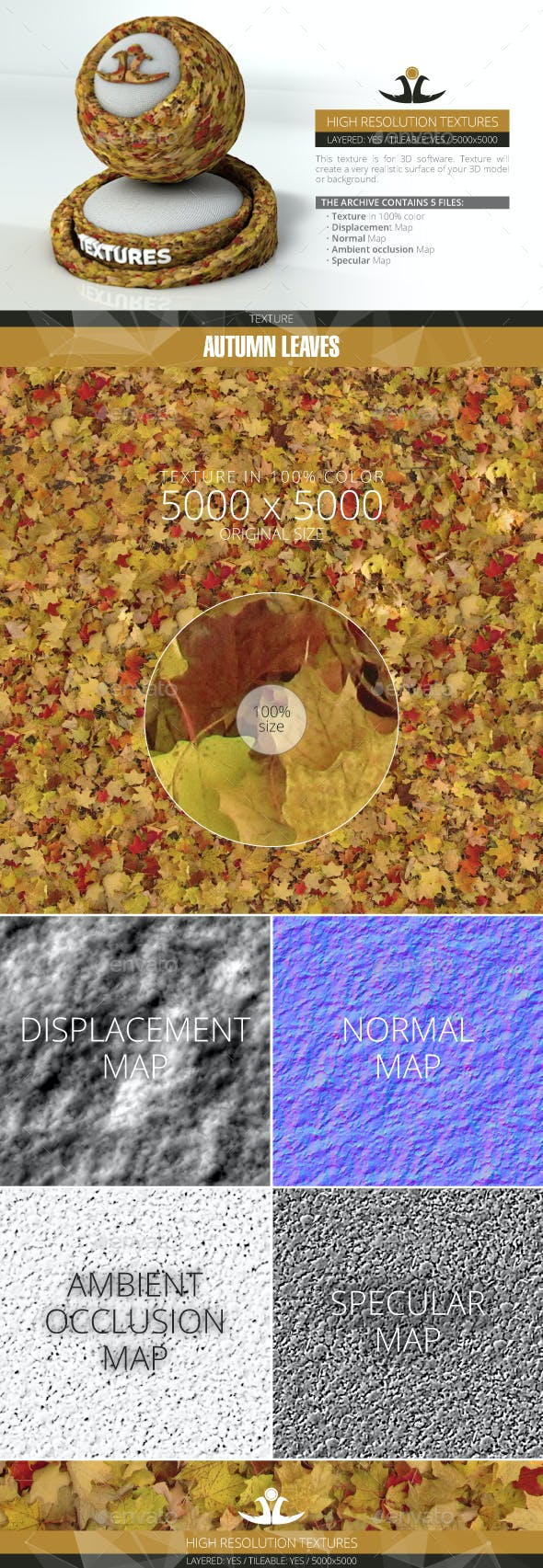 Autumn Leaves 11 - 3DOcean Item for Sale