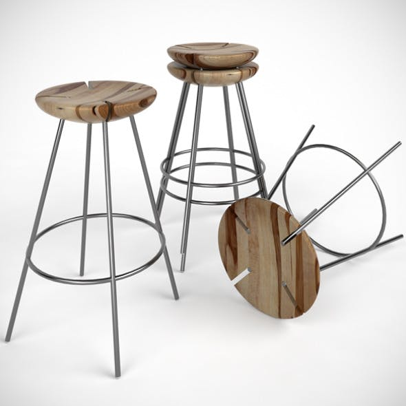 Tribo Bar Stool by EdWright | 3DOcean