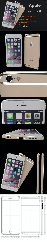 Apple iphone 6 - 3DOcean Item for Sale