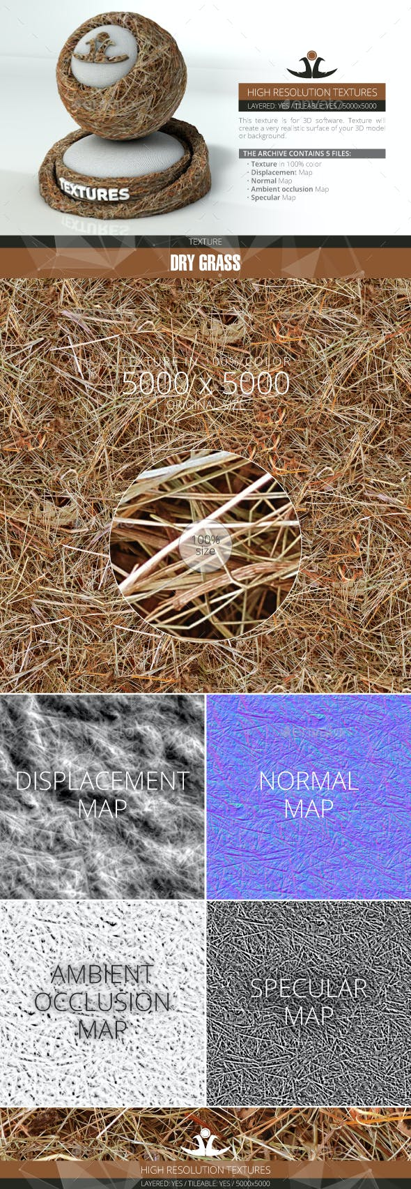 Dry Grass - 3DOcean Item for Sale