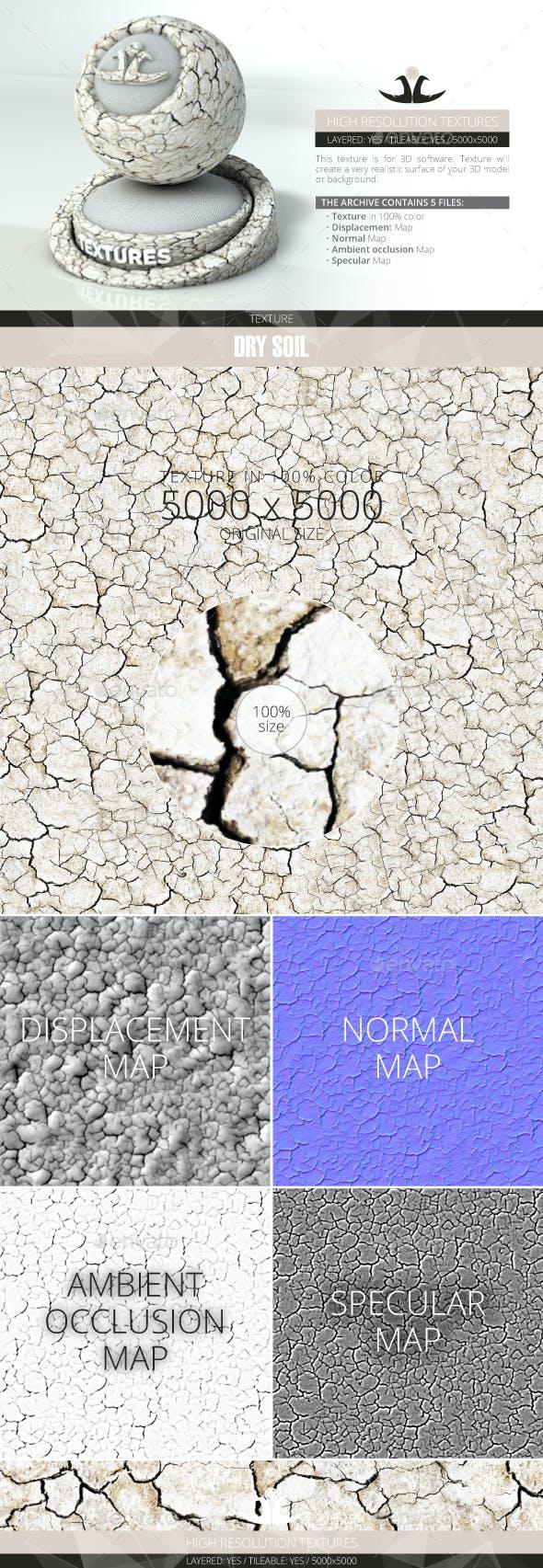 Dry Soil 3 - 3DOcean Item for Sale