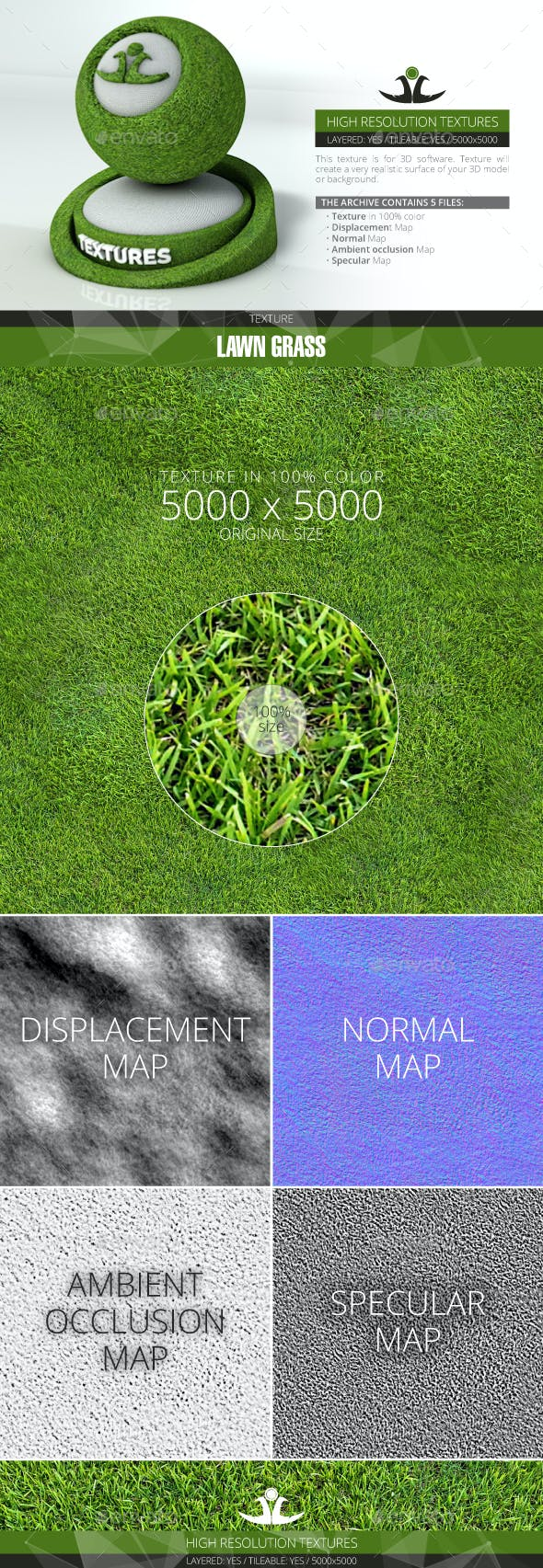 Lawn Grass 3 - 3DOcean Item for Sale