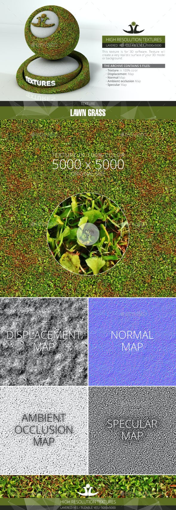 Lawn Grass 5 - 3DOcean Item for Sale