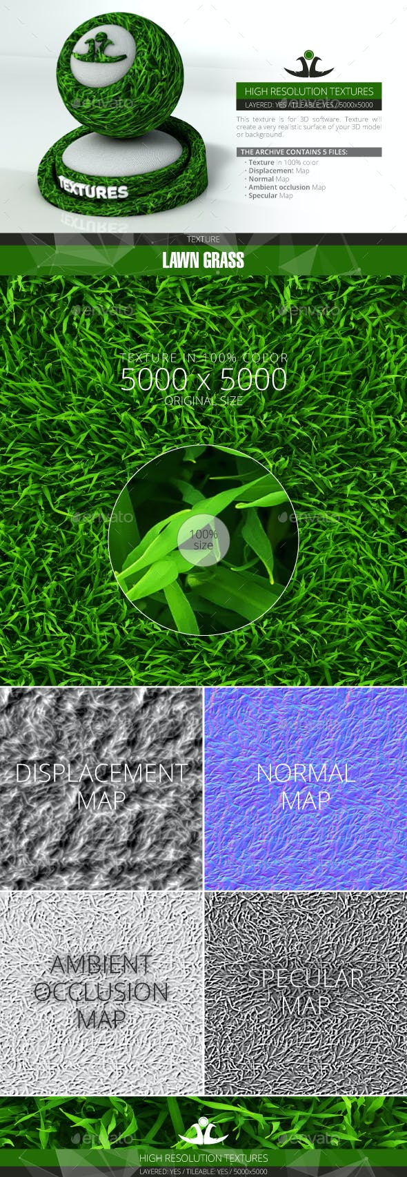Lawn Grass 6 - 3DOcean Item for Sale