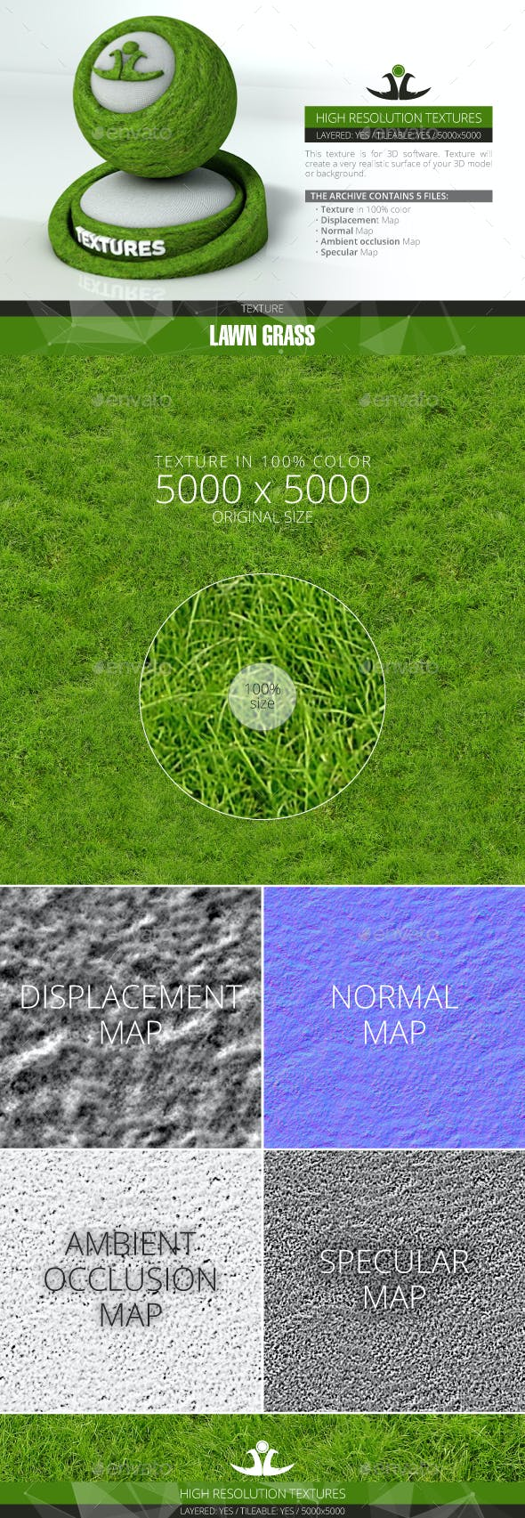 Lawn Grass 7 - 3DOcean Item for Sale