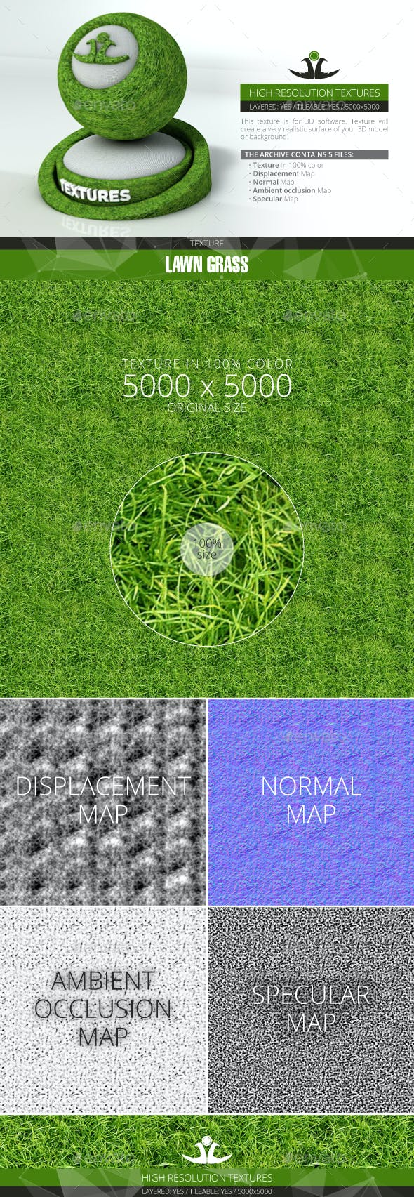 Lawn Grass 8 - 3DOcean Item for Sale