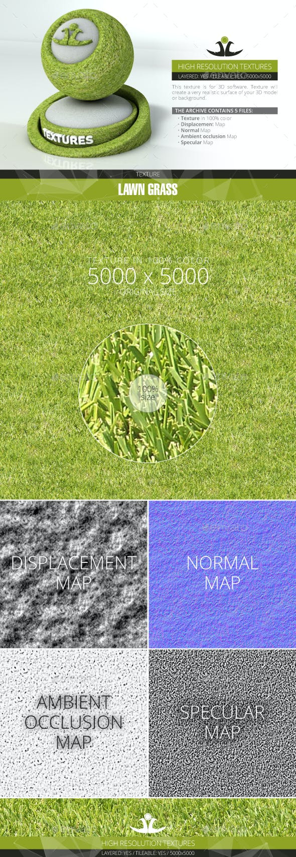 Lawn Grass 9 - 3DOcean Item for Sale