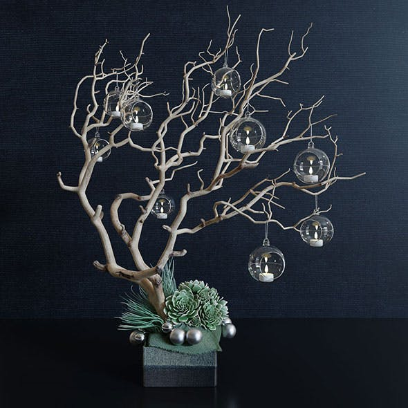 Decor branch and christmas toy - 3DOcean Item for Sale