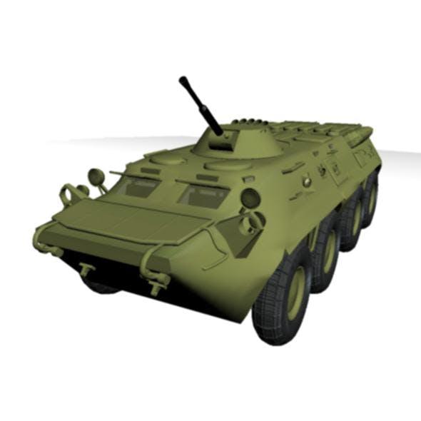 btr-80 personnel carrier - 3DOcean Item for Sale