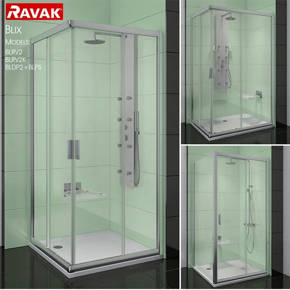 Corner shower cabins Ravak Blix
