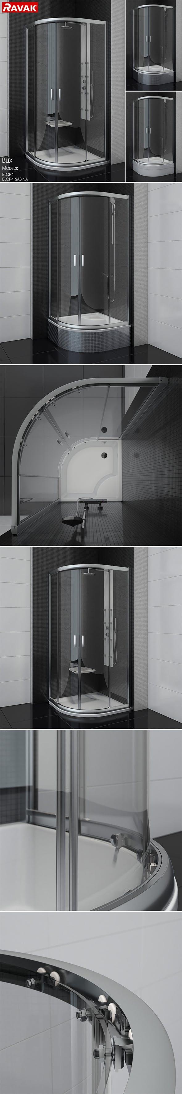 Semicircular shower enclosures Ravak Blix - 3DOcean Item for Sale