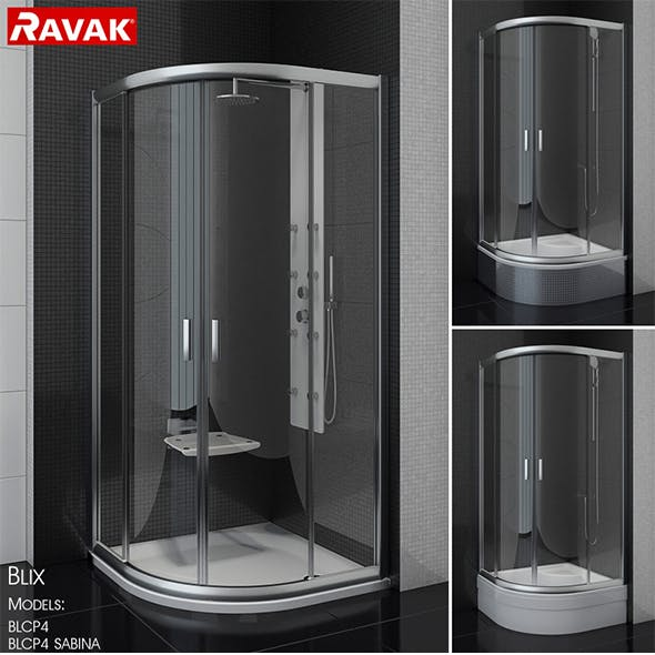 Semicircular shower enclosures Ravak Blix