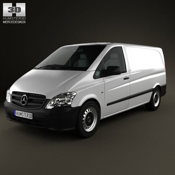 Mercedes-Benz Vito PanelVan Long 2011 - 3DOcean Item for Sale
