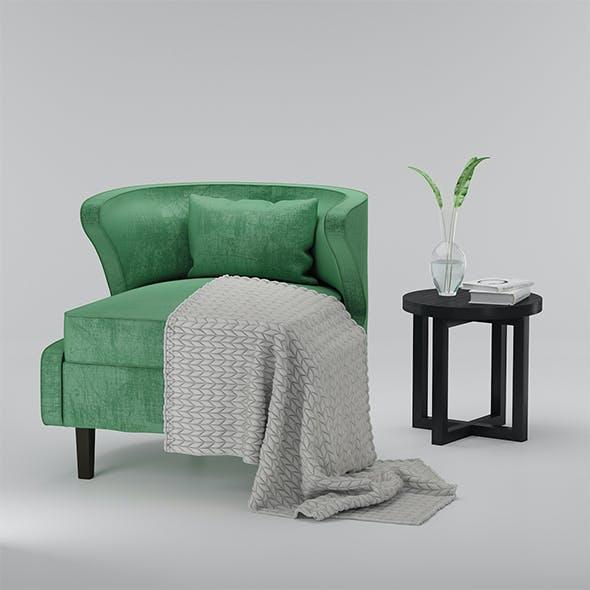Armchair vilidiya and coffee table Eastridge Black