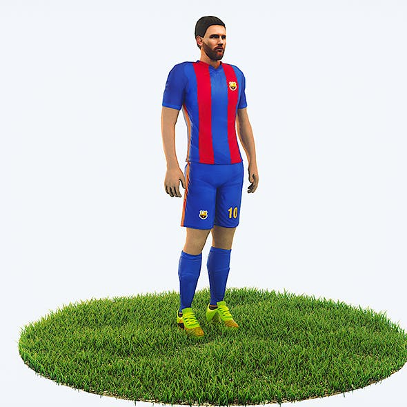 Lionel Messi football Player game ready character