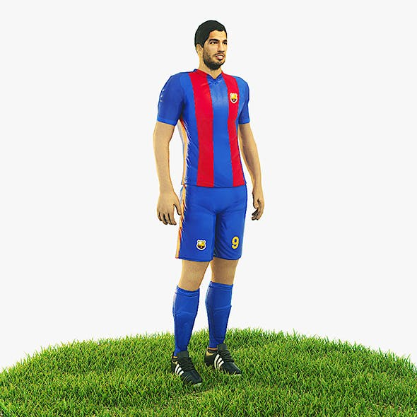 Luis Suarez football Player game ready character - 3DOcean Item for Sale