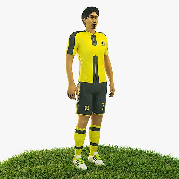 Shinji Kagawa football Player game ready character - 3DOcean Item for Sale
