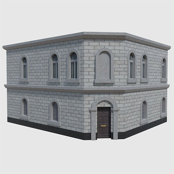 Corner Bank - Game Ready - 3DOcean Item for Sale