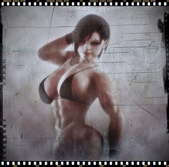 Jill Valentine MUSCLE - 3DOcean Item for Sale