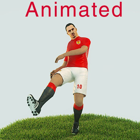Zlatan Ibrahimovic Game Ready Football Player Kick Animation - 3DOcean Item for Sale