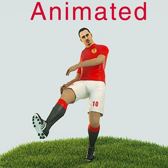 Zlatan Ibrahimovic Game Ready Football Player Kick Animation