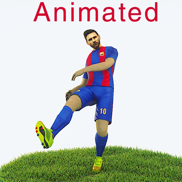 Lionel Messi Game Ready Football Player Kick Animation