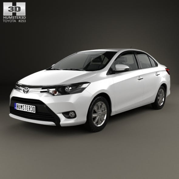 Toyota Yaris SE plus sedan 2014 - 3DOcean Item for Sale