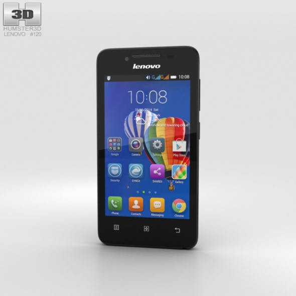 Lenovo RocStar A319 Black - 3DOcean Item for Sale