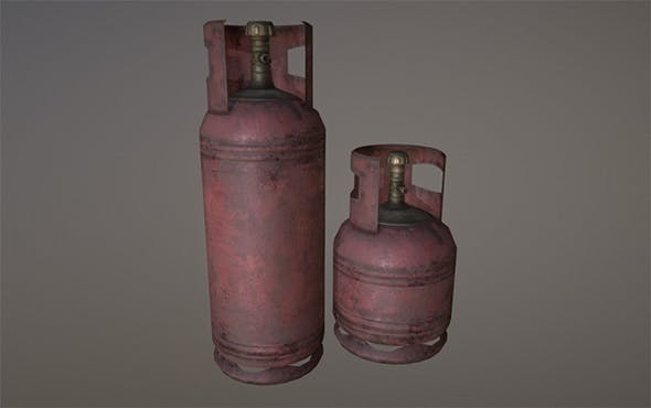 Gas cylinders - 3DOcean Item for Sale