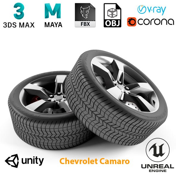 Chevrolet Camaro Wheel - 3DOcean Item for Sale
