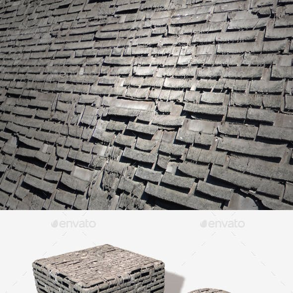 Old Weathered Wooden Roof Tiles Seamless