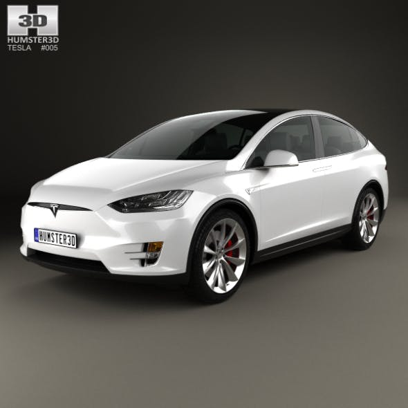 Tesla Model X 2016 - 3DOcean Item for Sale