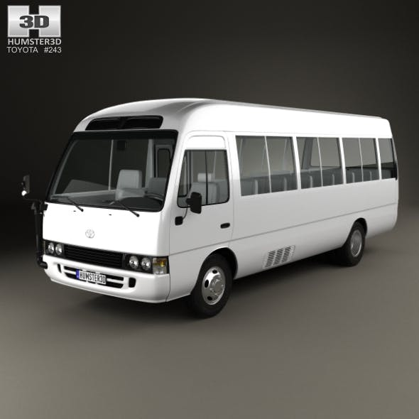 Toyota Coaster with HQ interior 2014