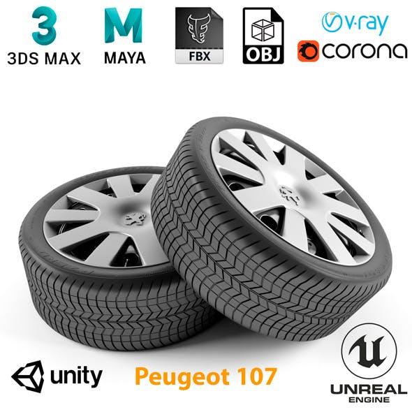 Peugeot 107 Wheel - 3DOcean Item for Sale