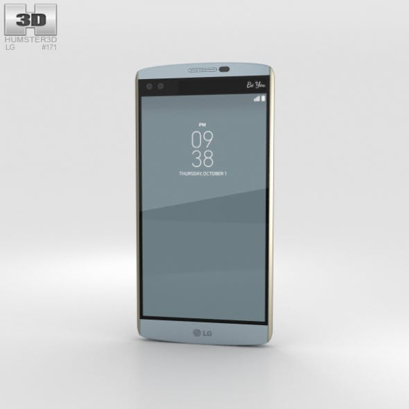 LG V10 Opal Blue - 3DOcean Item for Sale