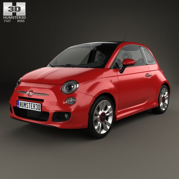 Fiat 500 Sport 2014 - 3DOcean Item for Sale