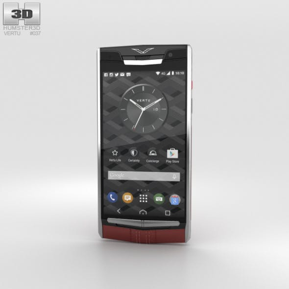 Vertu Signature Touch (2015) Garnet Calf