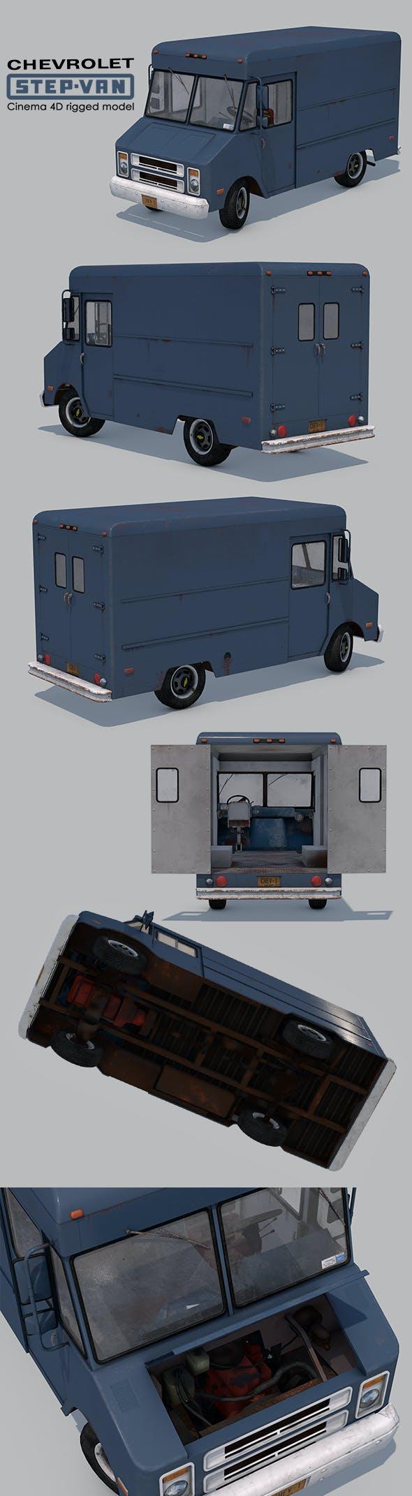 Chevrolet Step-Van P20 Rigged - 3DOcean Item for Sale