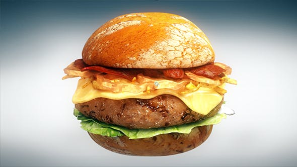 3D burger - 3DOcean Item for Sale