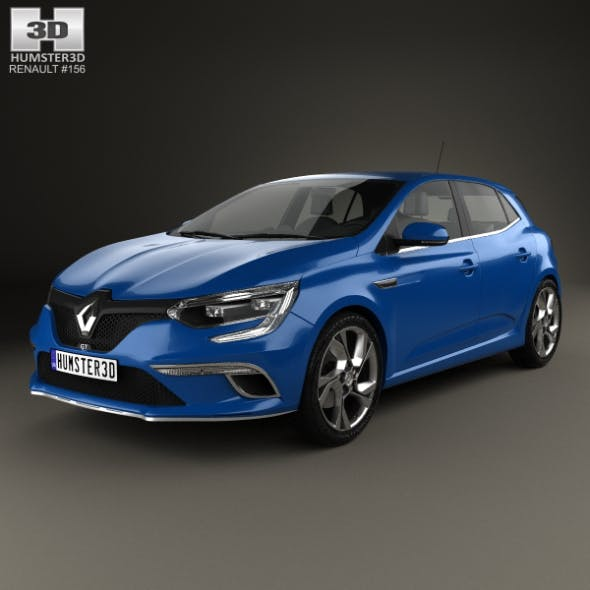 Renault Megane GT 2016 - 3DOcean Item for Sale