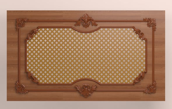 Decorative panel with carved elements - 3DOcean Item for Sale