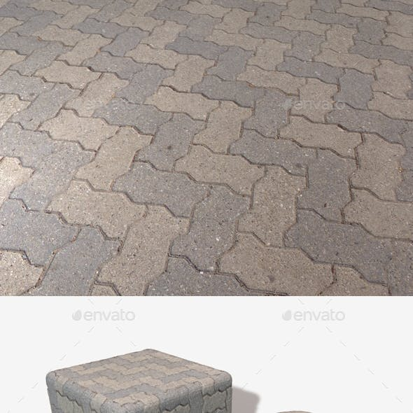Zig Zag Brick Pavement Seamless Texture