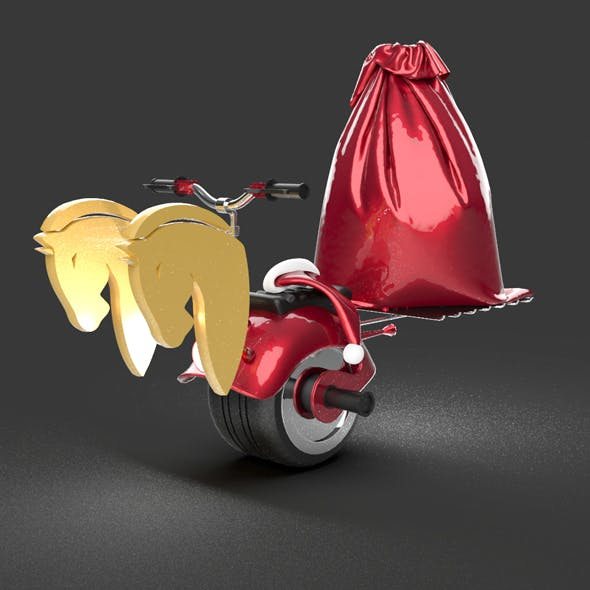 Santa Claus Single tire bike