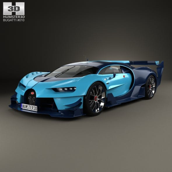 Bugatti Vision Gran Turismo 2015 - 3DOcean Item for Sale
