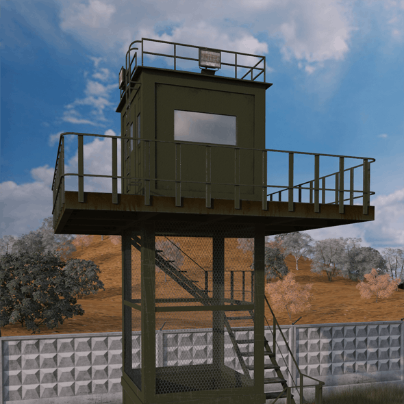 Armored observation tower