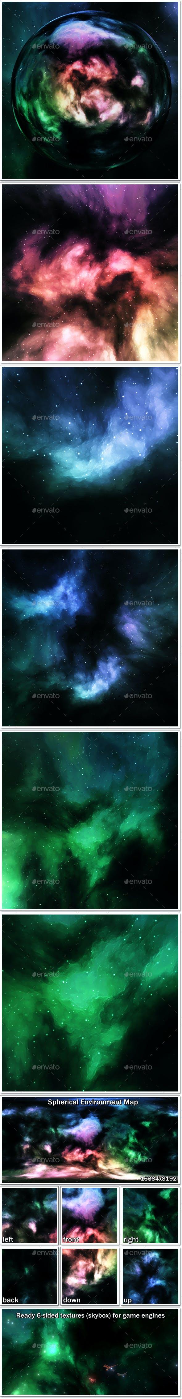 Nebula Space Environment HDRI Map 010 - 3DOcean Item for Sale