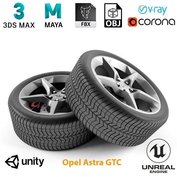 Opel Astra GTC Wheel - 3DOcean Item for Sale